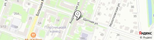 Комплекс-сервис на карте Великого Новгорода