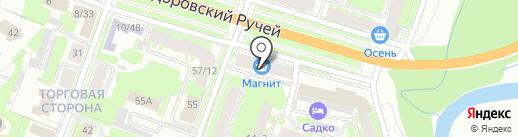 Магнит Косметик на карте Великого Новгорода
