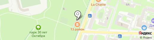 Ёрш на карте Великого Новгорода
