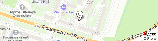 Луч на карте Великого Новгорода