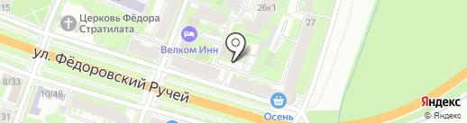 Данила Мастер на карте Великого Новгорода