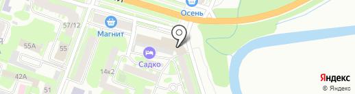 Садко на карте Великого Новгорода