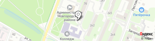 Управляющая компания №17 на карте Великого Новгорода