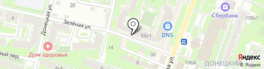 Эконом на карте Великого Новгорода