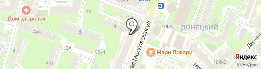 Три толстяка на карте Великого Новгорода