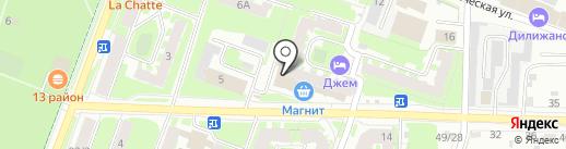 Деловой Вопрос на карте Великого Новгорода