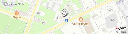 Городские бани, МУП на карте Великого Новгорода
