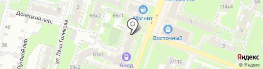 Золотой мастер на карте Великого Новгорода