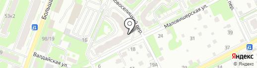 Ателье по ремонту одежды на карте Великого Новгорода