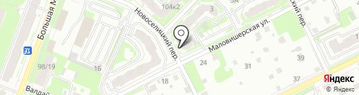 Центр противопожарных услуг на карте Великого Новгорода