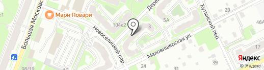 НовТехника печи на карте Великого Новгорода
