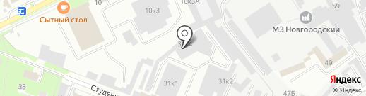 СТО на карте Великого Новгорода