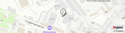 Маячок на карте Великого Новгорода
