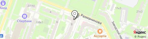 ТОНУС-КЛУБ на карте Великого Новгорода