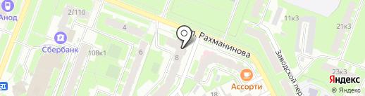 Мегастиль на карте Великого Новгорода