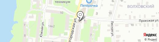Банкомат, Балтийский банк, ПАО на карте Великого Новгорода