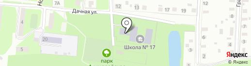 Школа №17 на карте Великого Новгорода
