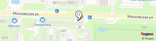Алые Паруса на карте Великого Новгорода