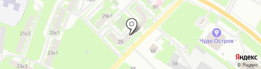 Энтазис на карте Великого Новгорода