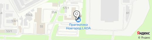Новгород-Лада на карте Великого Новгорода