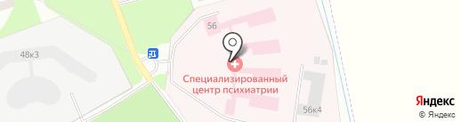 Областная клиническая психиатрическая больница на карте Великого Новгорода