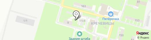 Вкусно Дешево Удобно на карте Великого Новгорода