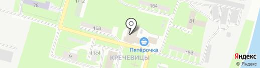 Банька на дровах на карте Великого Новгорода