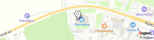 Иван-Чаевич на карте Смоленска