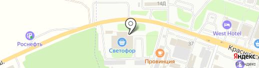 Бетон+ на карте Смоленска