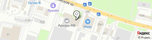 СК.Дедал на карте Смоленска