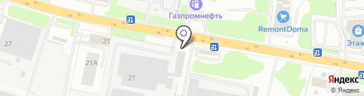 Роса на карте Смоленска