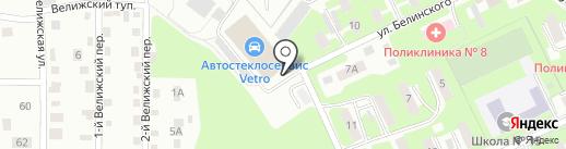 Иномарка на карте Смоленска