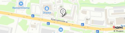 Кондра на карте Смоленска