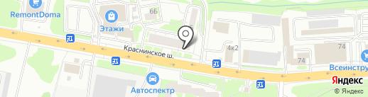 Лотос на карте Смоленска