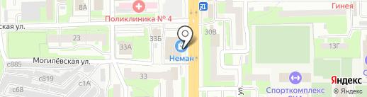 Белый Ангел на карте Смоленска