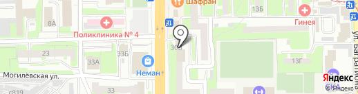 Киоск по продаже питьевой воды на карте Смоленска