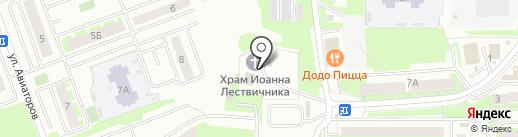 Храм в честь преподобного Иоанна Лествичника на карте Смоленска