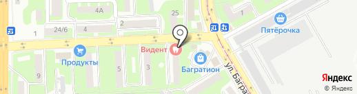 Видент на карте Смоленска