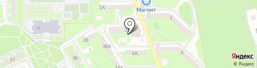 Роза-Мимоза на карте Смоленска