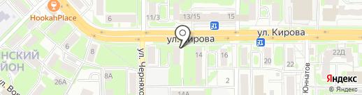 Брадобреи на карте Смоленска