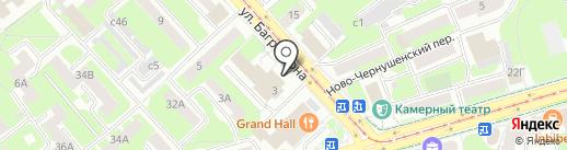 Управление главной противопожарной службы МЧС Смоленской области, ГУ МЧС России на карте Смоленска