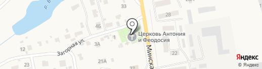 Церковь Антония и Феодосия Печерских на карте Печерска