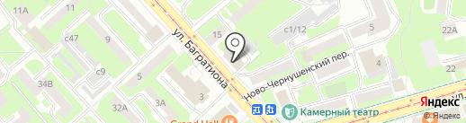 Кружка на карте Смоленска