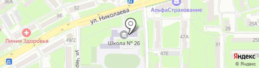 Средняя общеобразовательная школа №26 им. А.С. Пушкина на карте Смоленска