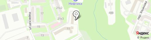 Барс на карте Смоленска