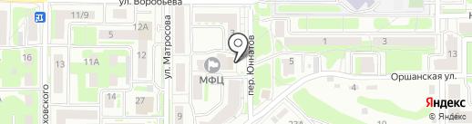 Юннатовский на карте Смоленска