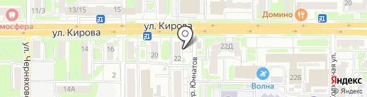Кировский торговый ряд на карте Смоленска