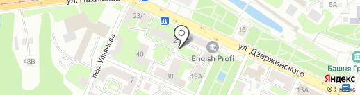 Екатерининский на карте Смоленска