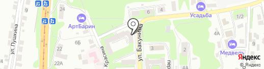 БакунинЪ на карте Смоленска