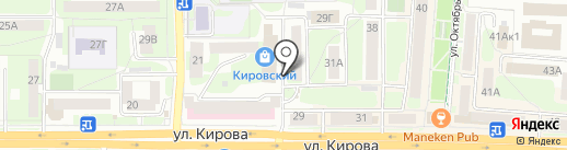 Хозяйственный на карте Смоленска